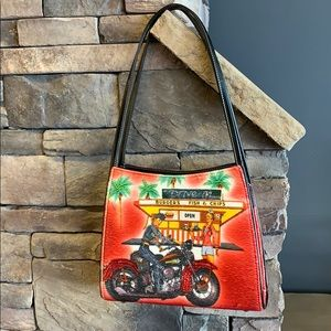 Handbags - Woman Motorcycle Bag |Retro Fast Food Shoulder Bag